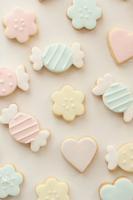 love the cute little pastel stripey candies