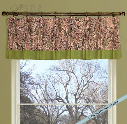 Straight Pinch Pleat Valance On Rings In 2019 Kitchen Window Valances Valance Custom Drapes
