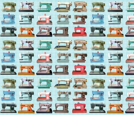 40 Best Cute Print And Pattern Images On Pinterest Pattern Design Simple Vintage Sewing Machine Fabric