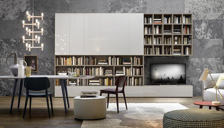Wohnwand design  Moderne Design TV Wohnwand aus Italien von Novamobili #Designer ...