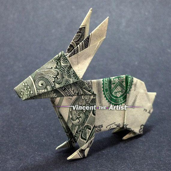 Dollar Bill Origami RABBIT