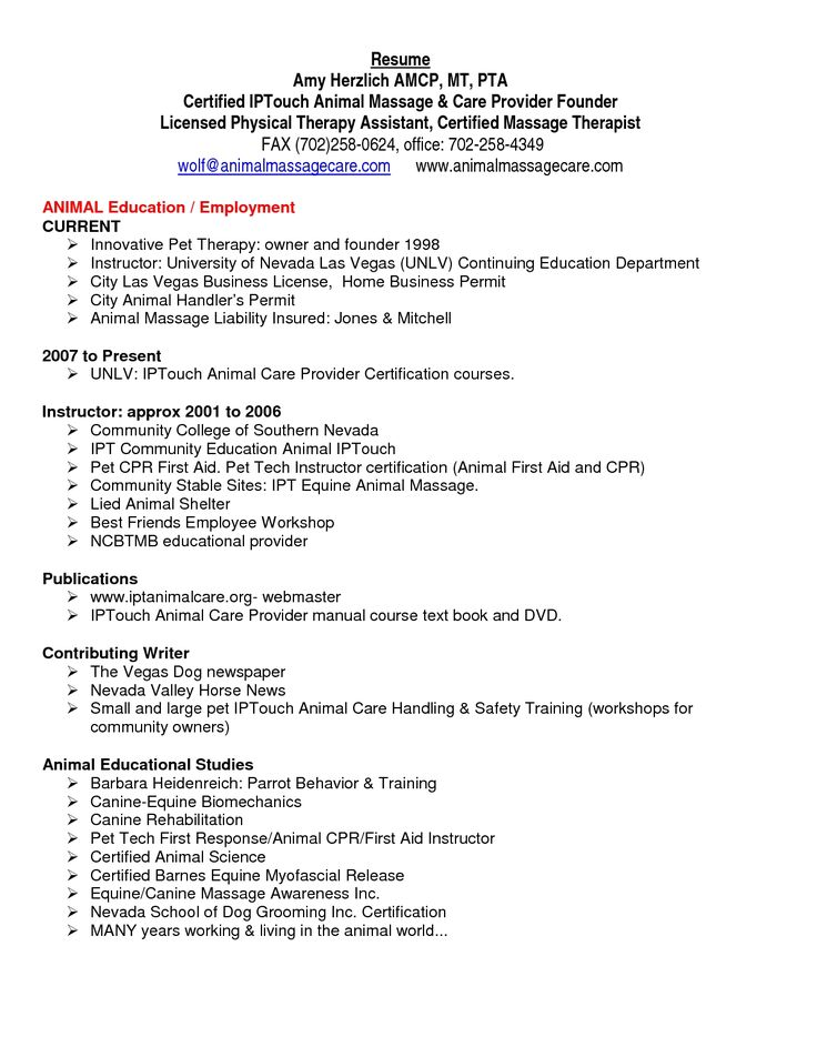 physical therapist assistant resume examples photo pta write - horse trainer sample resume