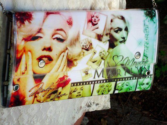 Handmade marilyn monroe clutch bag by jtfashionsoul on Etsy
