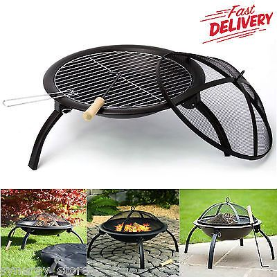 Portable grill bbq #steel fire pit ideal for camping, #outdoor, garden & #patio u,  View more on the LINK: 	http://www.zeppy.io/product/gb/2/262555961815/
