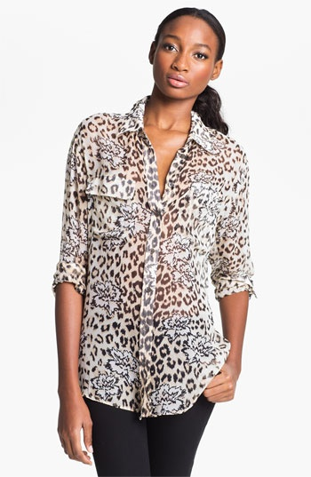 Equipment 'Signature' Silk Shirt available at #Nordstrom