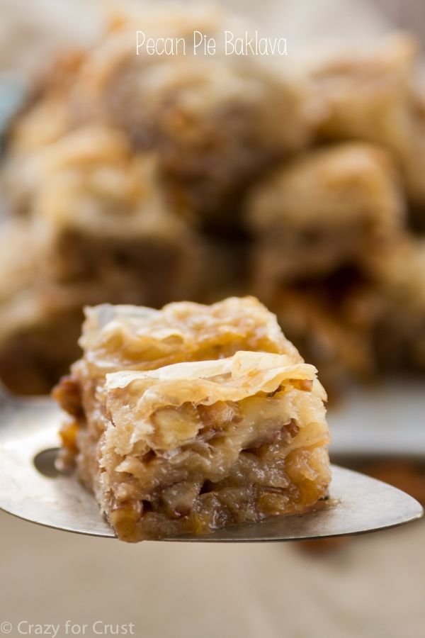 Layers of phyllo and pecan pie flavor make this Pecan Pie Baklava the best yet!