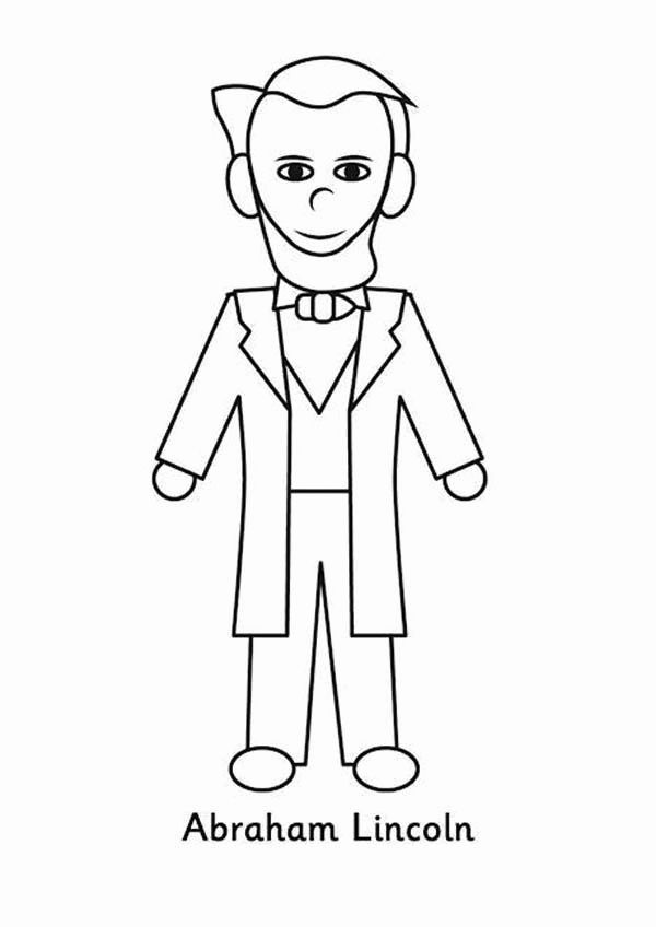 Abraham Lincoln Coloring Worksheets
