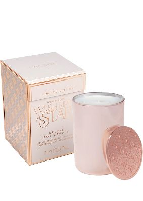 MOR Wish Upon A Star Rose Gold Candle