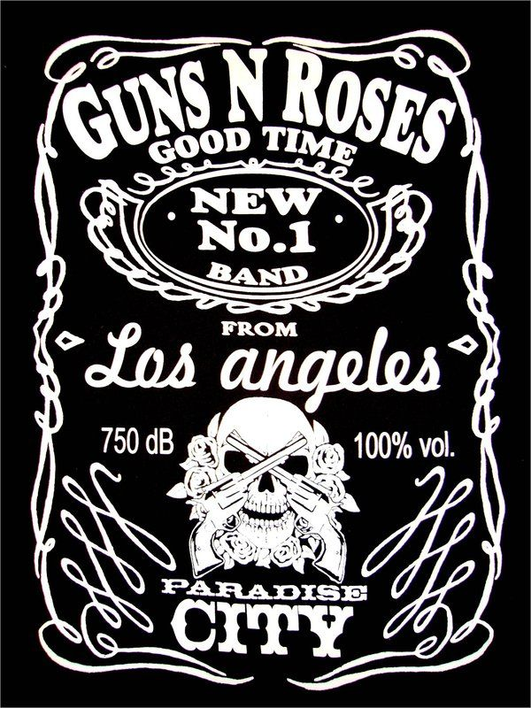 "Guns & Roses ""Jack Daniels"" UK tour tshirt Guns and"