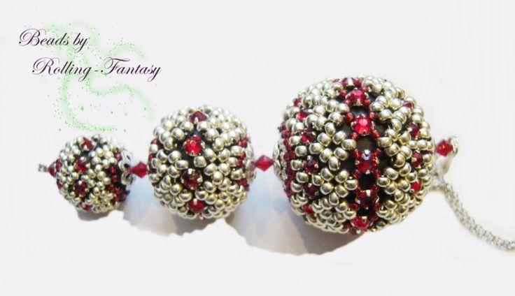außergewöhnlicher Anhänger mit Swarovski-Steinen von Beads by Rolling-Fantasy auf DaWanda.com