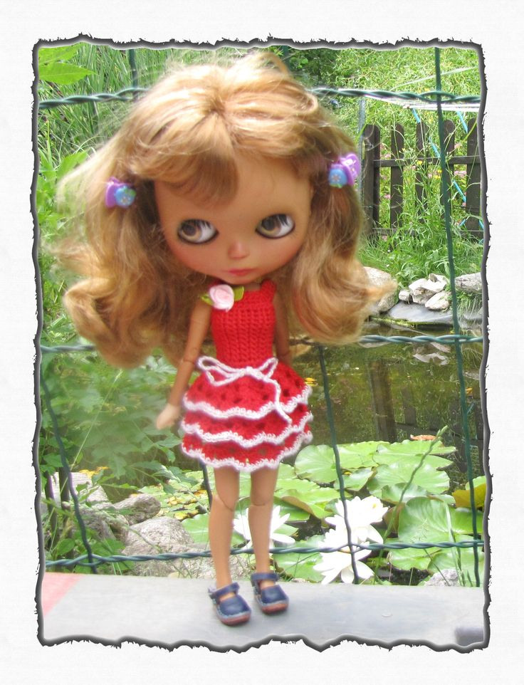 Crocheted Blythe Doll Dress (Azone Body) FREE Shipping by Shopdollwithowl on Etsy