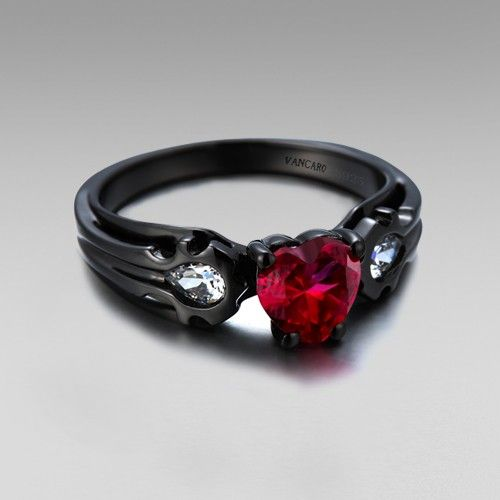synthetic ruby black rings and horde on