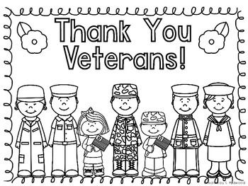"""My school loves to decorate the hallways for when Veterans come to speak at our school.  Here is a quick, FREE, """"Thank You Veterans"""" coloring page to decorate and celebrate the wonderful holiday!  Thanks for checking it out!Please take a moment to follow my store and rate my product!"""