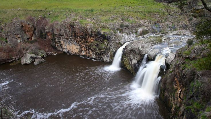 With the recent rains, Turpins Falls along the Campaspe River near Metcalfe…