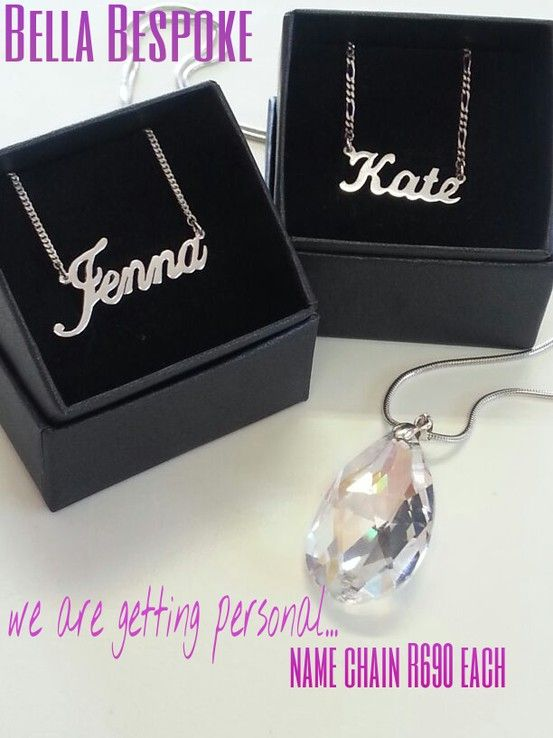 Getting personal collection #silver #name #chain #trend #special #gift