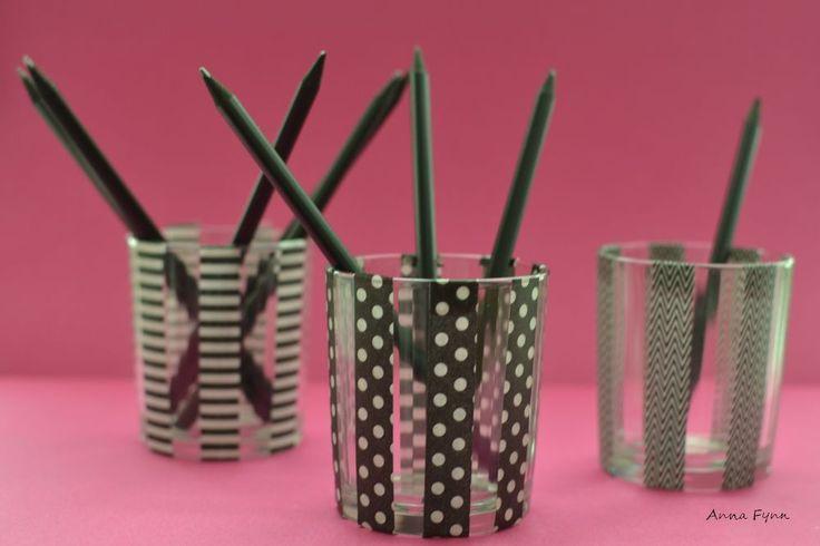 Washi Tape - Stiftehalter - pencil holder - portapenne
