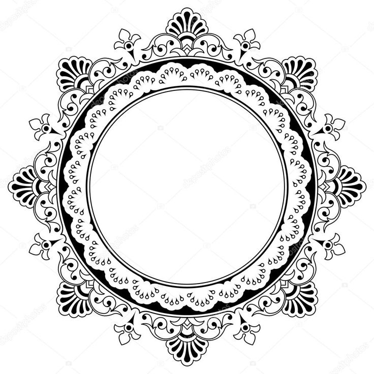 depositphotos_18747283-Round-floral-calligraphic-border.jpg (1024×1024)