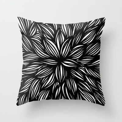 Foliage madness Throw Pillow by Laura Moreau - $20.00
