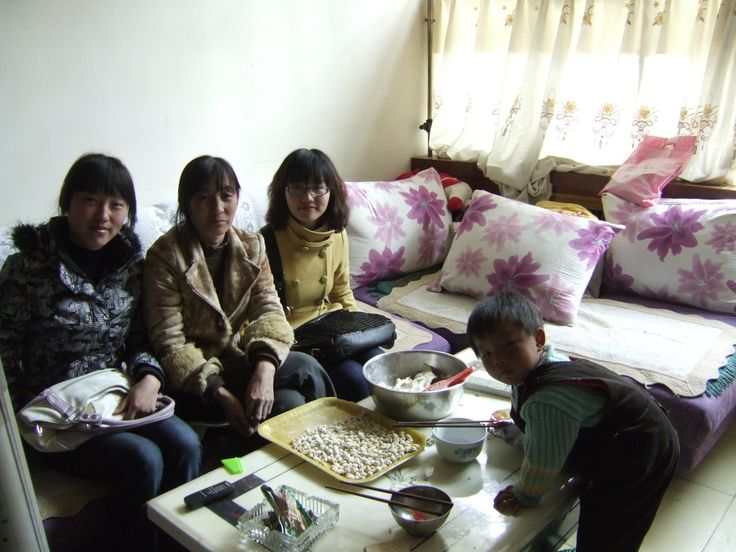 My helpful translators and an interviewee in new generation cave dwellings in Yan'an, China