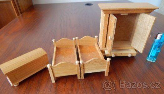 RETRO - nábytek pro malé panenky - dřevo - 1
