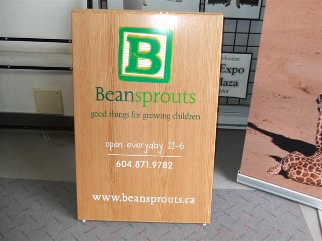 Beautiful sandwich board produced and installed by FASTSIGNS Vancouver for Beansprouts www.fastsigns.com/653