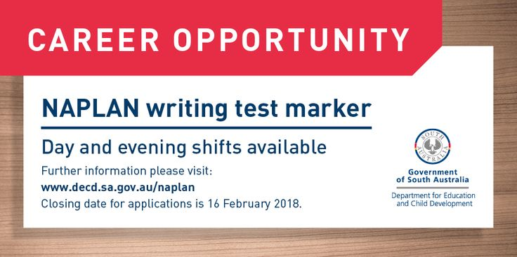 Wanted: English/literacy teachers to mark NAPLAN writing tests in May '18. #NAPLAN #DECD #Marking