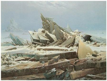 The Sea of Ice - Caspar David Freidrich,1824