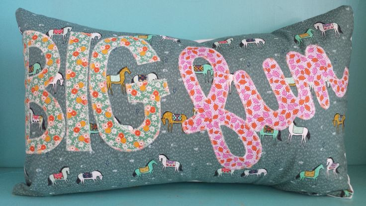 Whimsical big fun pillow cover horse fabric home decor for Whimsical decorations home