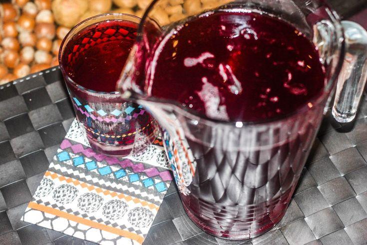 Making Africa's Sobolo drink (bissap drink)