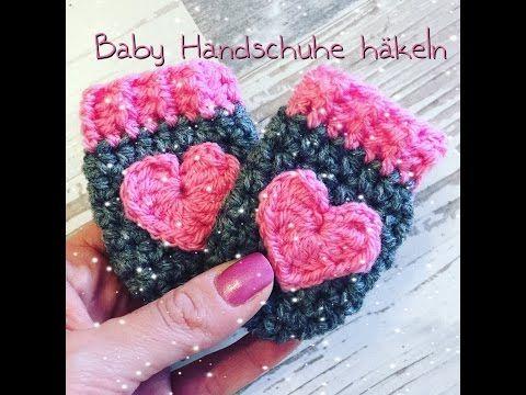 EINFACHE Baby Handschuhe häkeln - YouTube