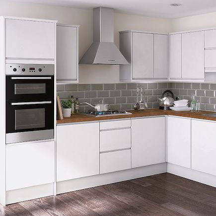 Kitchen homebase essential kensal high gloss for White high gloss kitchen wall units