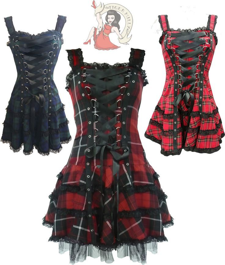 Goth, Tartan, Mini Dresses - Picmia