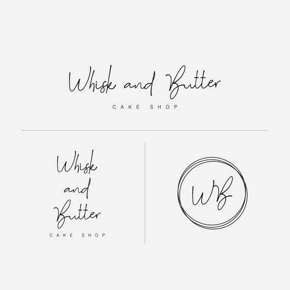 Circle Logo, Business Branding, Logo Design, Modern Logo, Premade Branding, Initials Logo, Premade Logo, Brand Identity, Bakery Logo