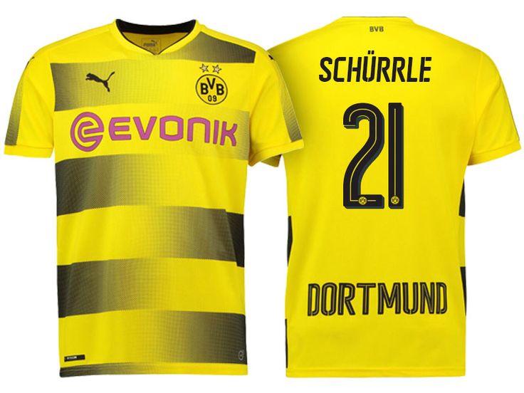 Borussia Dortmund #21 Andre Schurrle 17-18 Home Short Shirt