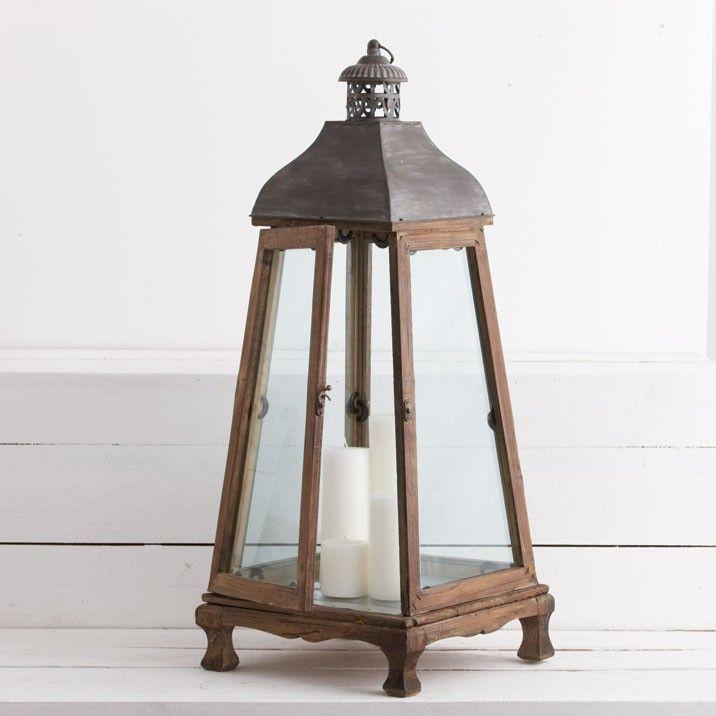 Antique wooden lantern garden pinterest for Wooden garden lanterns