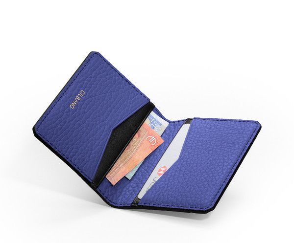 GILBANO - Leather Credit Card Case - Leather wallet - Oyster - Blue
