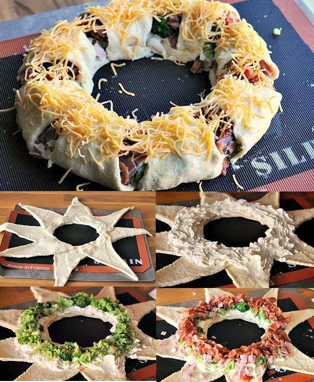 Corona navideña salada