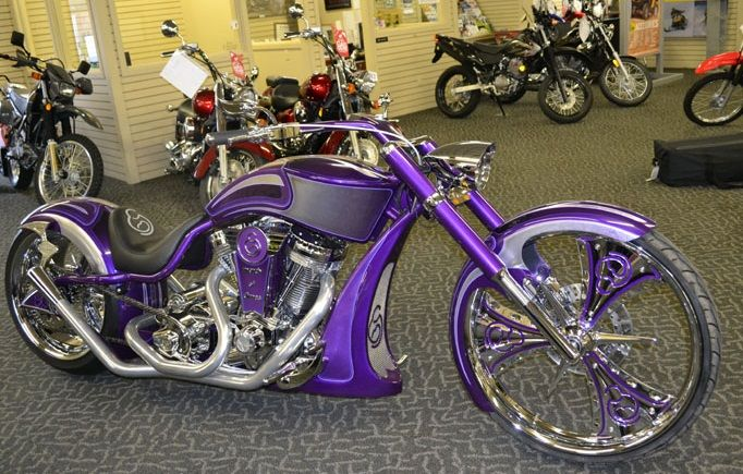 Michigan Bikers for Babies bike built by Paul Jr. Designs! BEAUTIFUL! and for a great cause. :)