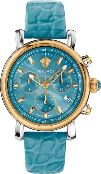 Versace Versace Day Glam Analog Display Swiss Quartz Turqoise Watch