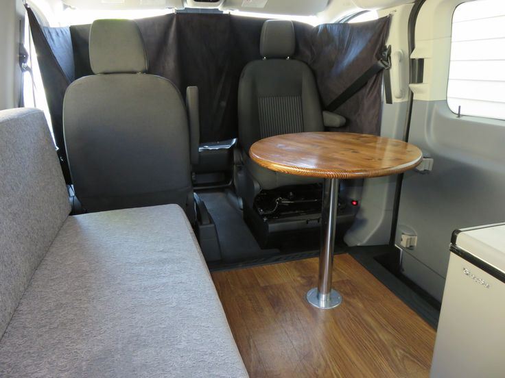 Swivel Seat And Pedestal Table In 2015 Ford Transit LR Conversion VanCamper