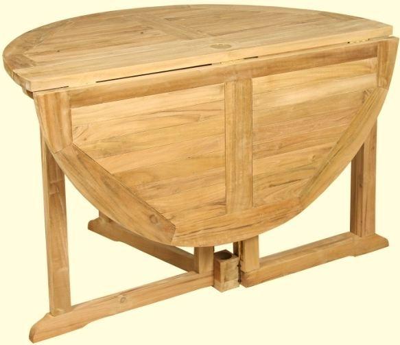 Mesas plegables redondas de madera buscar con google - Mesas de madera redondas ...