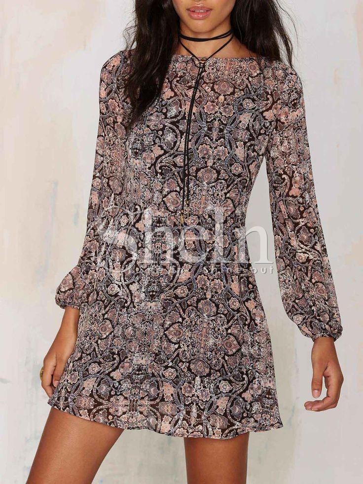 Vestido manga larga vintage -multicolor 17.45