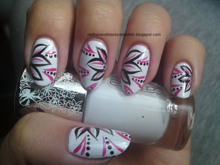 14 best Nail Art Inspiration - Flowers images on Pinterest | Nail ...
