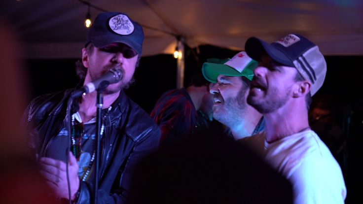 Throwing back all the way to...a couple Saturdays ago in Indiana, with the Trews and Melodime helping out Red Wanting Blue on an Oasis cover at Sweatpants and Trucker Hats. Thanks to Debbie C for the link!
