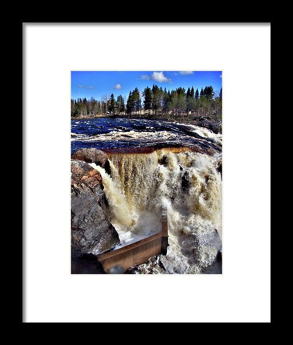 "#FineArtPhotography by #SUshko#FineArtLandscapes #Zen #Nature #HealingArt #Canvas #HomeDecorNone #FineArtPrints #Norrbotten ""Sweden #Jockfall"