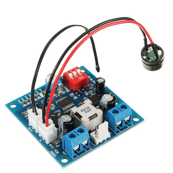 ZHIYU® DC 12V 5A PWM PC CPU Fan Speed Controller Regulator Smart Temperature Control Board With Buzzer And Temperature Probe Stop Turn Alarm Monitoring Function