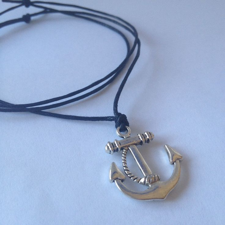 Anchor Charm On Adjustable Black Necklace  sistaura https://www.etsy.com/au/listing/224910183/anchor-charm-on-adjustable-black?ref=shop_home_active_16