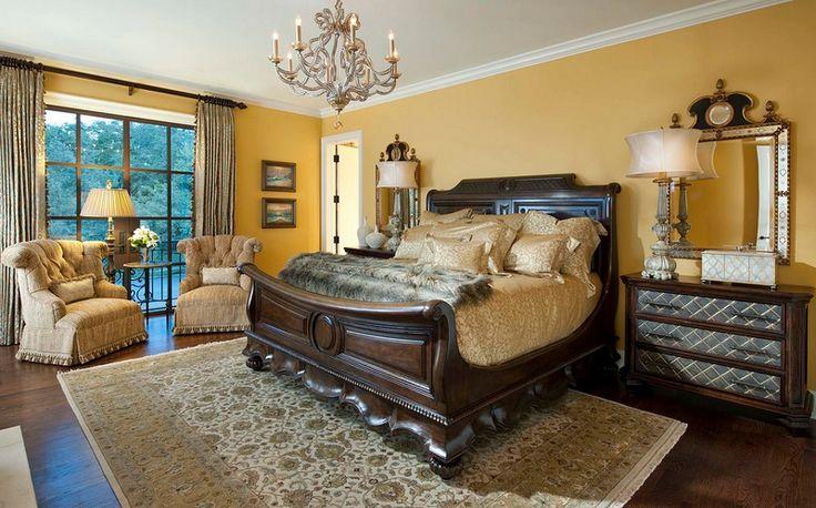 Mediterranean Master Bedroom Design in Dallas