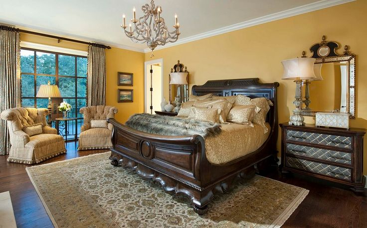 Mediterranean Master Bedroom Design in Dallas
