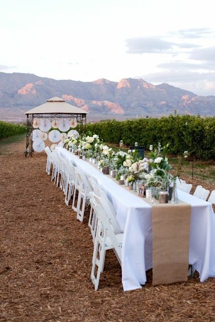 Una boda al aire libre